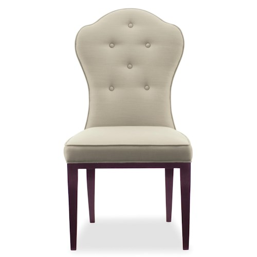 Bernhardt Haven Upholstered Side Chair with Button Tufting