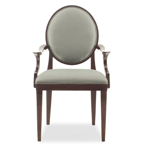 Bernhardt Hawkins Arm Chair with Oval Back