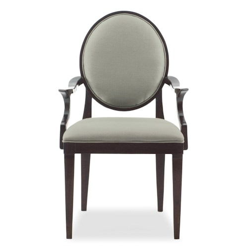 Bernhardt Haven <b>Customizable</b> Arm Chair with Oval Back
