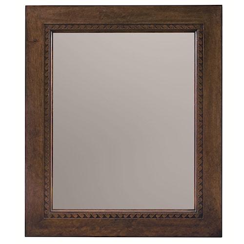 Bernhardt Huntington  Wood Framed Mirror with Decorative Carving