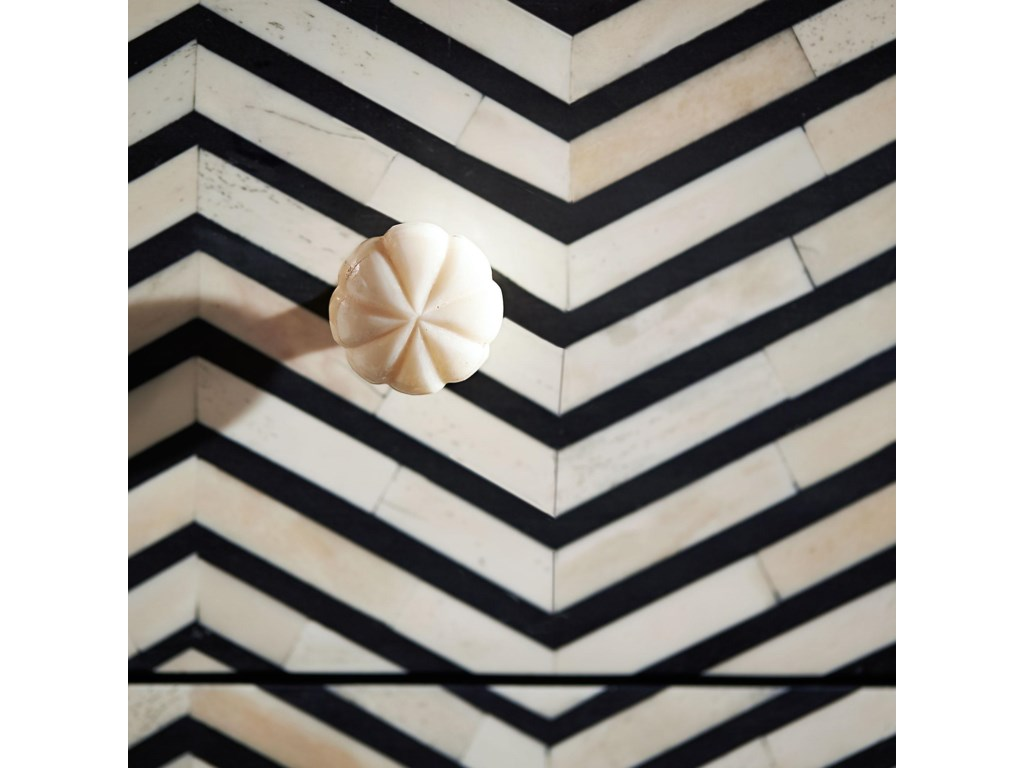 Herringbone Bone Inlay Pattern