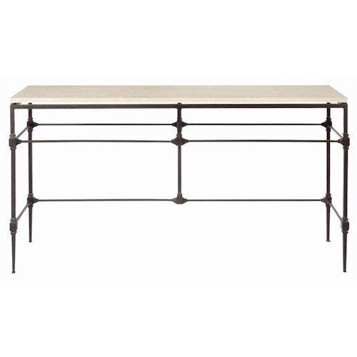 Bernhardt Interiors - Accents Ellsworth Console Table with Travertine Stone Top
