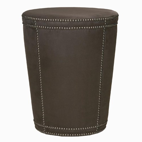 Bernhardt Interiors - Accents Pomona Tapered Cylinder Ottoman with Nailhead Trim
