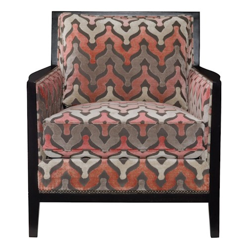 Bernhardt Interiors - Accents Afton Chair with Transitional Style and Nail Head Trim