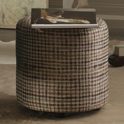 Bernhardt Interiors - Accents Pisa Ottoman with Round Footstool Style