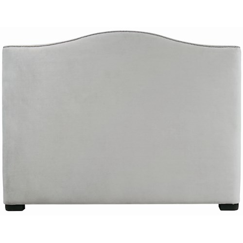 Bernhardt Interiors - Beds King-Size Graham Upholstered Camelback Headboard