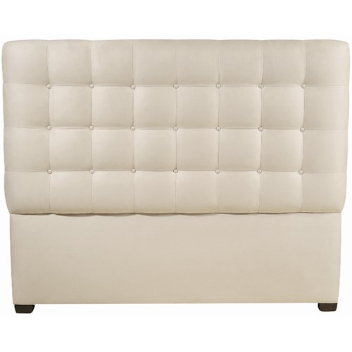 Bernhardt Interiors - Beds Queen-Size Avery Button-Tufted Fabric Upholstered Headboard