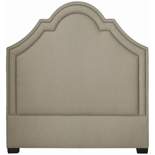 Bernhardt Interiors - Beds Twin-Size Madison Crown Top Upholstered Headboard