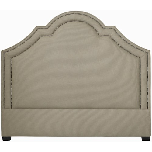 Bernhardt Interiors - Beds Queen-Size Madison Crown Top Upholstered Headboard