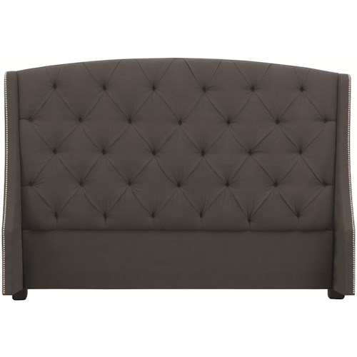 Bernhardt Interiors - Beds Full-Size Jordan Button Tufted Wing Headboard