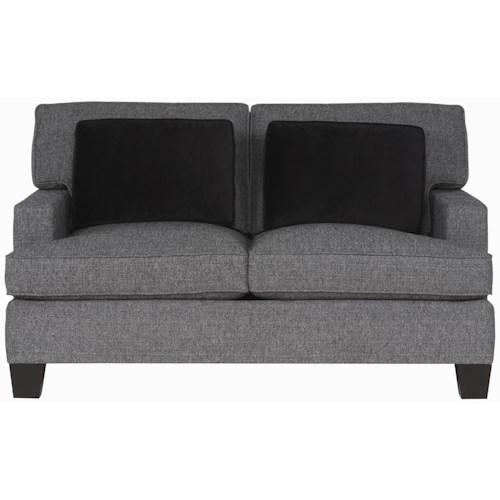 Bernhardt Interiors - Denton Upholstered Loveseat with Track Arms