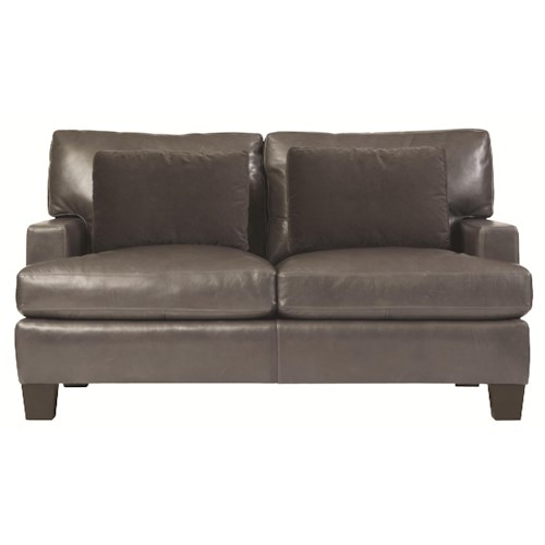 Bernhardt Interiors - Denton Decorative Living Room Loveseat with Modern Furniture Style