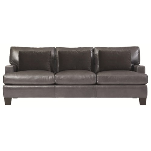 Bernhardt Interiors - Denton Stationary Sofa in Modern Furniture Style