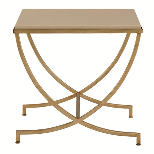 Bernhardt Interiors - Dunhaven Square End Table with Composite Stone Top