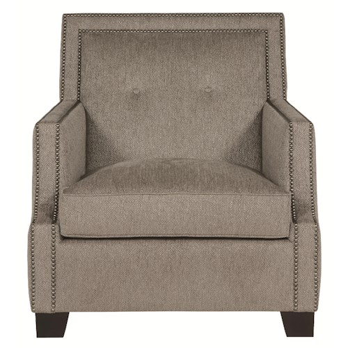 Bernhardt Interiors - Franco Well Crafted Accent Chair with High End Artistic Design