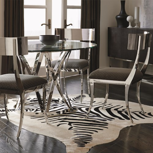 Bernhardt Interiors - Gustav 4 Piece Contemporary Dining Table and Chair Set