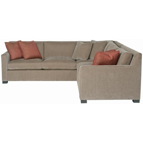 Bernhardt Interiors - Kelsey 2 Piece Sectional with Track Arms