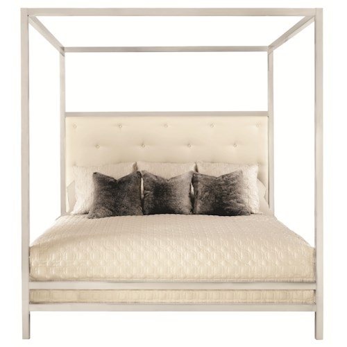 Bernhardt Landon Landon Metal King Poster Bed with Modern Art Style