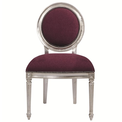 Bernhardt Interiors - Louis Louis Dining Side Chair with Nailhead Trim