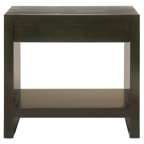 Bernhardt Interiors - Merrick Merrick Nightstand with One Drawer & One Shelf