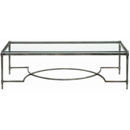 Bernhardt Interiors - Accents Palmer Metal & Glass Cocktail Table