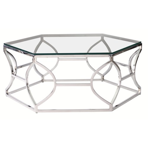 Bernhardt Interiors - Accents Argent Metal Cocktail Table with Poloshed Stainless Steel Finish