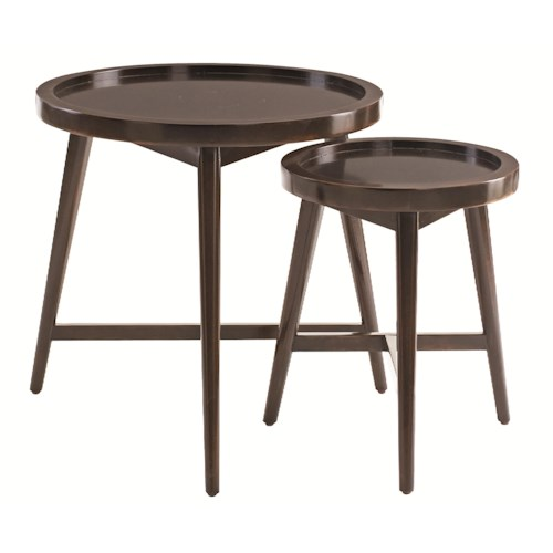 Bernhardt Interiors - Accents Putnam Round Nesting End Tables