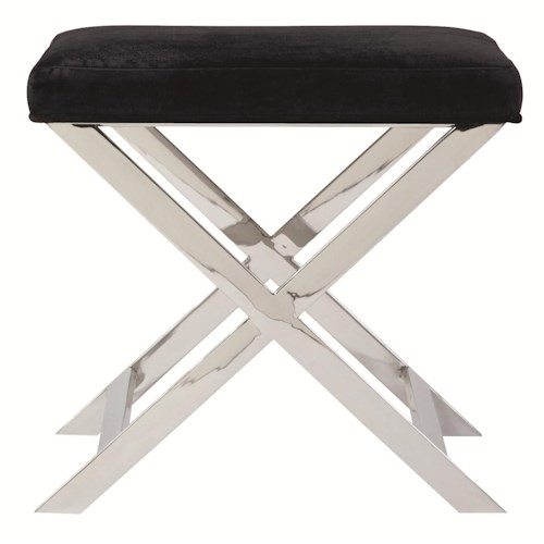 Bernhardt Interiors - Accents Campion Stool with Cushion and Stainless Steel Base