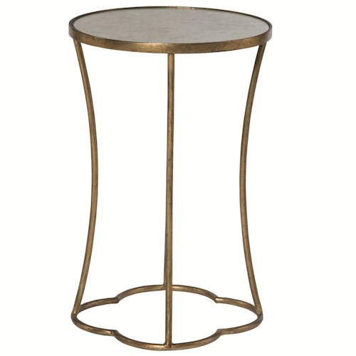Bernhardt Interiors - Accents Kylie Round Accent Table with Antique Mirrored Top