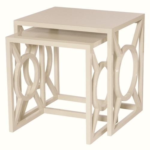 Bernhardt Interiors - Accents Zara Nesting Tables with Geometric Design