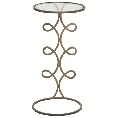 Bernhardt Interiors - Accents Lena Chairside Table with Inset Glass Top