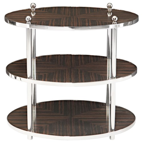 Bernhardt Interiors - Accents Costa Round End Table with 2 Shelves