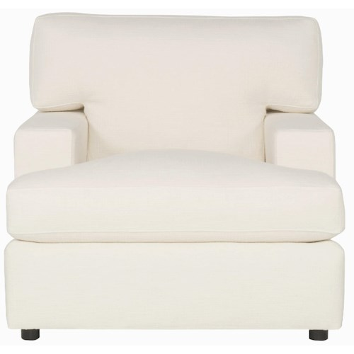 Bernhardt Interiors - Ryden Upholstered Chair with Track Arms