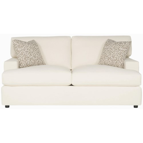 Bernhardt Interiors - Ryden Upholstered Loveseat with Exposed Wood Feet