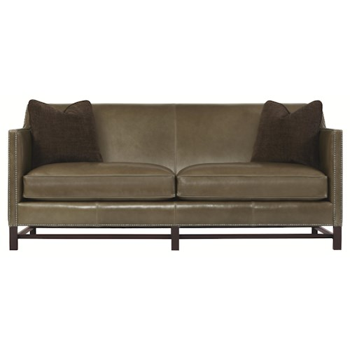 Bernhardt Interiors - Sofas Contemporary Styled Chatham Sofa with Exposed Wood Accents