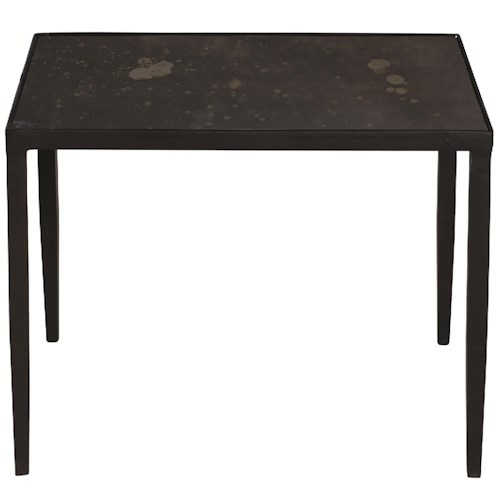 Bernhardt Interiors - Triton Square End Table with Inset Bronze Mirror Glass Top