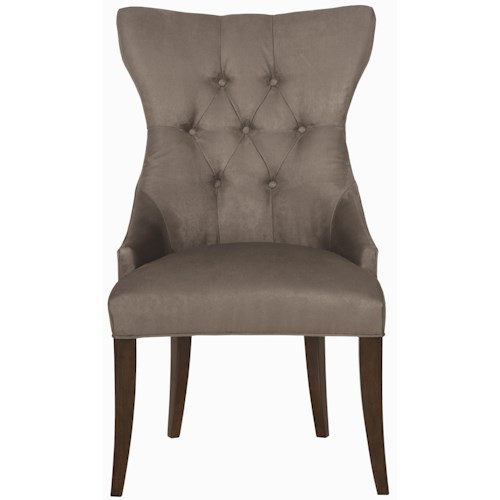 Bernhardt Interiors - Chairs Deco Tufted Back Exposed Wood Chair