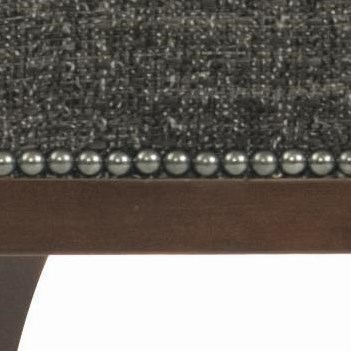 A Decorative Nailhed Trim Beautifully Borders Both Seat and Back Cushions