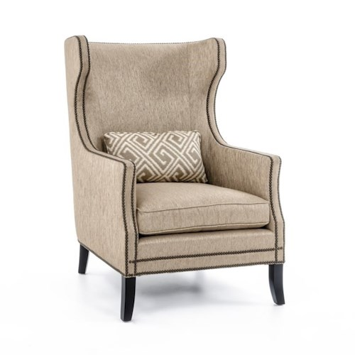 Bernhardt Interiors - Chairs Kingston Contemporary Wing Chair