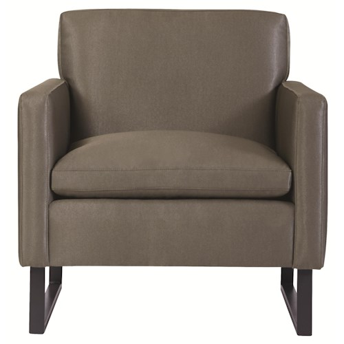 Bernhardt Interiors - Chairs Modern Contemporary Jaxon Chair with Metal Legs