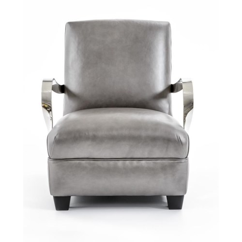 Bernhardt Interiors-Chairs Markham Leather Chair with Modern Furniture Style