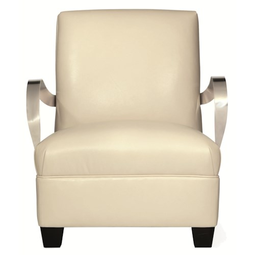 Bernhardt Interiors - Chairs Markham Leather Chair with Modern Furniture Style