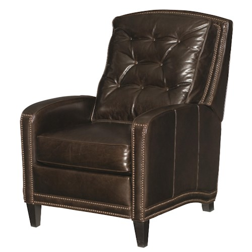 Bernhardt Jennings Transitional Style Recliner with Nailhead Accent