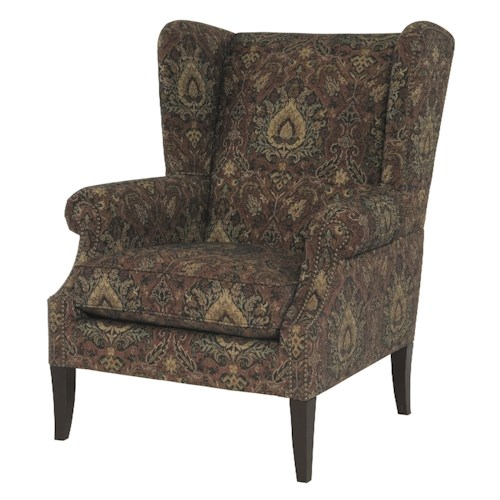 Bernhardt Jeremy Wing Chair with Decorative Tufts