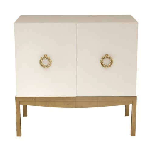 Bernhardt Jet Set 2-Door Cabinet with Ring Pulls