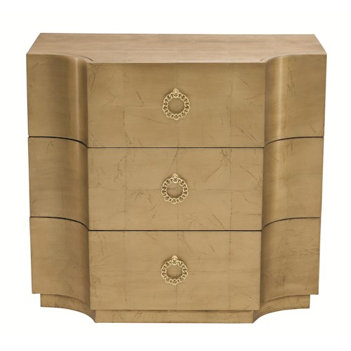 Bernhardt Jet Set 3 Drawer Chest with Contoured Front