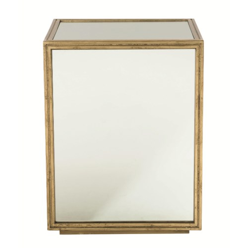 Bernhardt Jet Set End Table with Mirrored Glass Panels