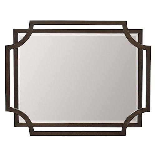 Bernhardt Jet Set Mirror with Cutout Frame Detail