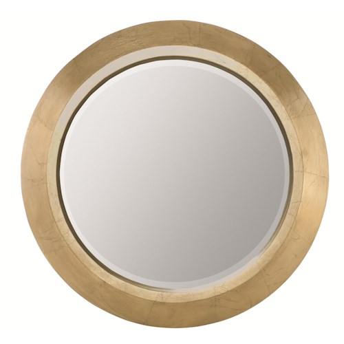 Bernhardt Jet Set Round Mirror with Beveled Glass