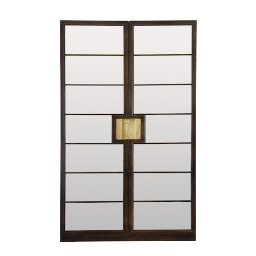 Bernhardt Jet Set Curio Cabinet with Inset Mirror Glass
